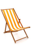 Chaise longue. Chaise lounge for relaxing on the beach  on white background Royalty Free Stock Photography