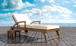 Chaise longue Resort Royalty Free Stock Photos