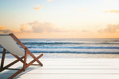 Chaise longue seaside Royalty Free Stock Photo