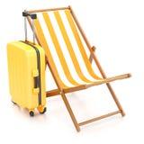 Chaise longue, suitcase Stock Photo
