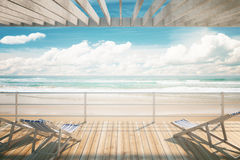 Chaise longues at the seaside Stock Image
