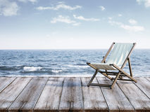 Chaise lounge on berth Royalty Free Stock Images