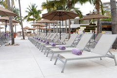 Chaise lounge chairs Stock Photography
