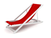 Chaise lounge over white Stock Images