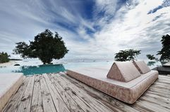 Chaise Lounge patio Royalty Free Stock Photos