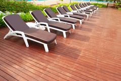 Chaise Lounge patio Royalty Free Stock Image