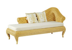 Chaise lounge. And pillows isolated on white background with clipping path stock image