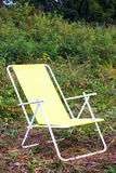 Chaise lounge for relaxing. Folding chair - chaise lounge for relaxing in in camping stock images