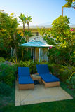Chaise Lounge Setting tropicale Image stock