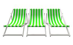 Chaise loungers - green Stock Photo