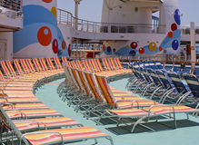 Chaise Lounges on a Ships Deck Royalty Free Stock Images
