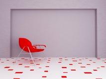 Chaise moderne dans la chambre, 3d Images stock