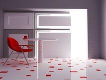 Chaise moderne dans la chambre, 3d Photo stock
