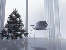 Chaise moderne dans la chambre, 3d Photo libre de droits