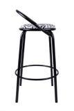 Chaise noire moderne d'isolement sur le fond blanc Siège de zèbre Photo stock
