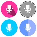 Chaise plate d'icônes Photos libres de droits