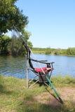Chaise pour la pêche Photographie stock libre de droits
