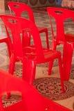 Chaise rouge Image libre de droits