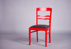 Chaise rouge Photographie stock