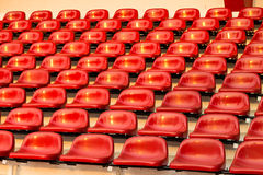 Chaise rouge de stade, Bangkok en Thaïlande photographie stock