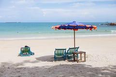 Chaise sur la plage Photographie stock libre de droits