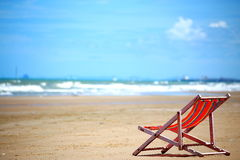 Chaise sur la plage Photographie stock