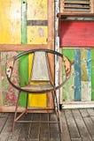Chaise unique des roues de bicyclette Images libres de droits