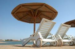 Chaise van het strand zitkamer Royalty-vrije Stock Foto