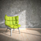 Chaise verte Images stock