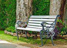 Chaise vide en métal Photographie stock