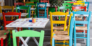 Chaises colorées Images libres de droits