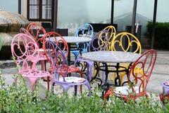 Chaises colorées Photographie stock libre de droits