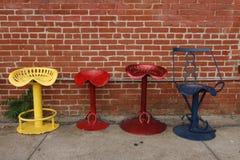 Chaises colorées Photographie stock