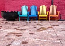 Chaises colorées Photos libres de droits