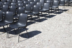 Chaises d'un cinéma extérieur Image libre de droits