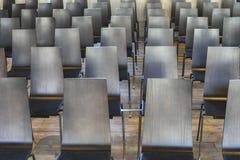 Chaises dans la vieille église Photo libre de droits