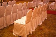 Chaises de banquet Photo libre de droits