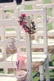 Chaises de cérémonie de mariage Photos libres de droits