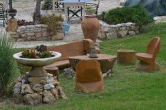 Chaises de jardin en bois Photographie stock