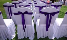 Chaises de mariage Photographie stock