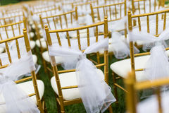 Chaises de mariage Images libres de droits