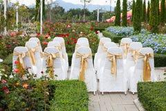 Chaises de mariage Photo libre de droits