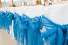 Chaises de mariage de réception Image stock