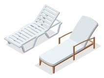chaise longue en bois de plage d 39 isolement sur le blanc illustration de vecteur image 48484881. Black Bedroom Furniture Sets. Home Design Ideas