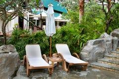 Chaises de station de vacances Photographie stock libre de droits