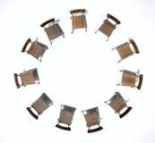 Chaises de thérapie de groupe Photo libre de droits