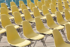 Chaises en plastique Photo libre de droits