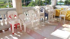 Chaises en plastique Photos stock