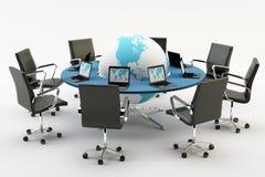 Chaises et table de bureau illustration de vecteur