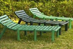 Chaises latérales de piscine Image libre de droits
